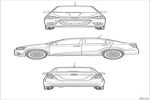 一汽汽车设计手绘图